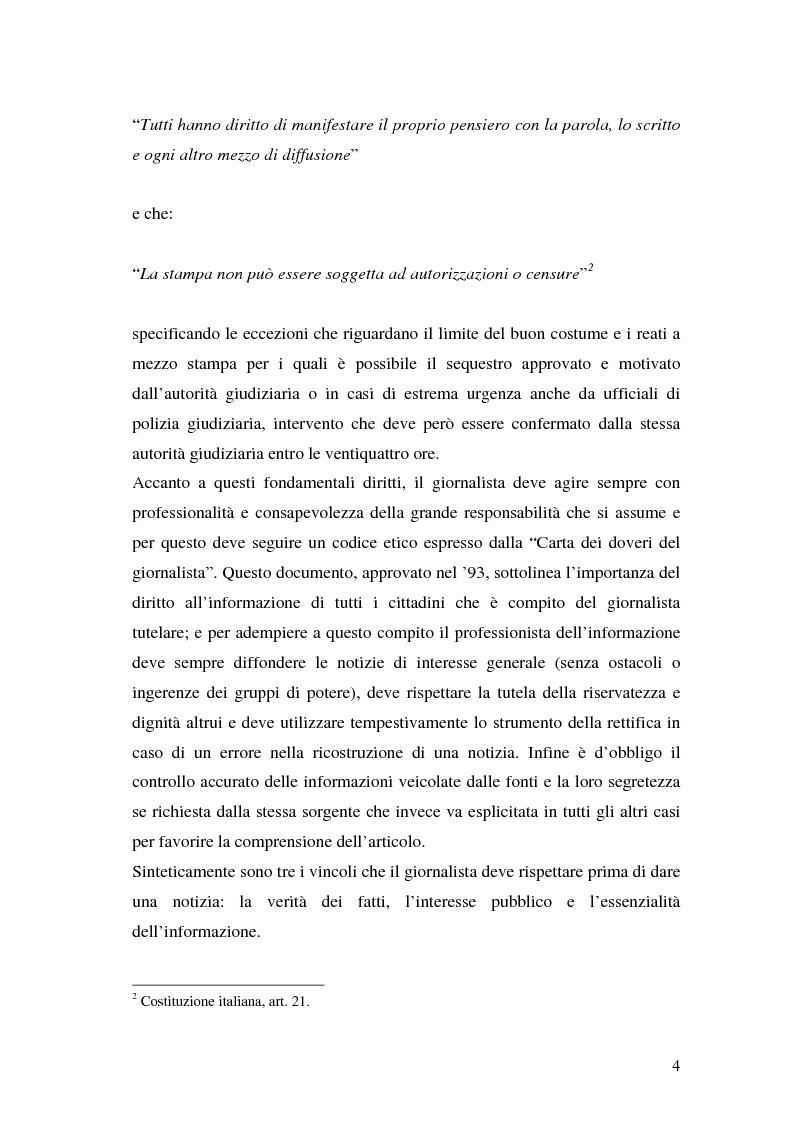 Anteprima della tesi: Il segreto professionale del giornalista: storia e casi di un diritto equivoco, Pagina 3