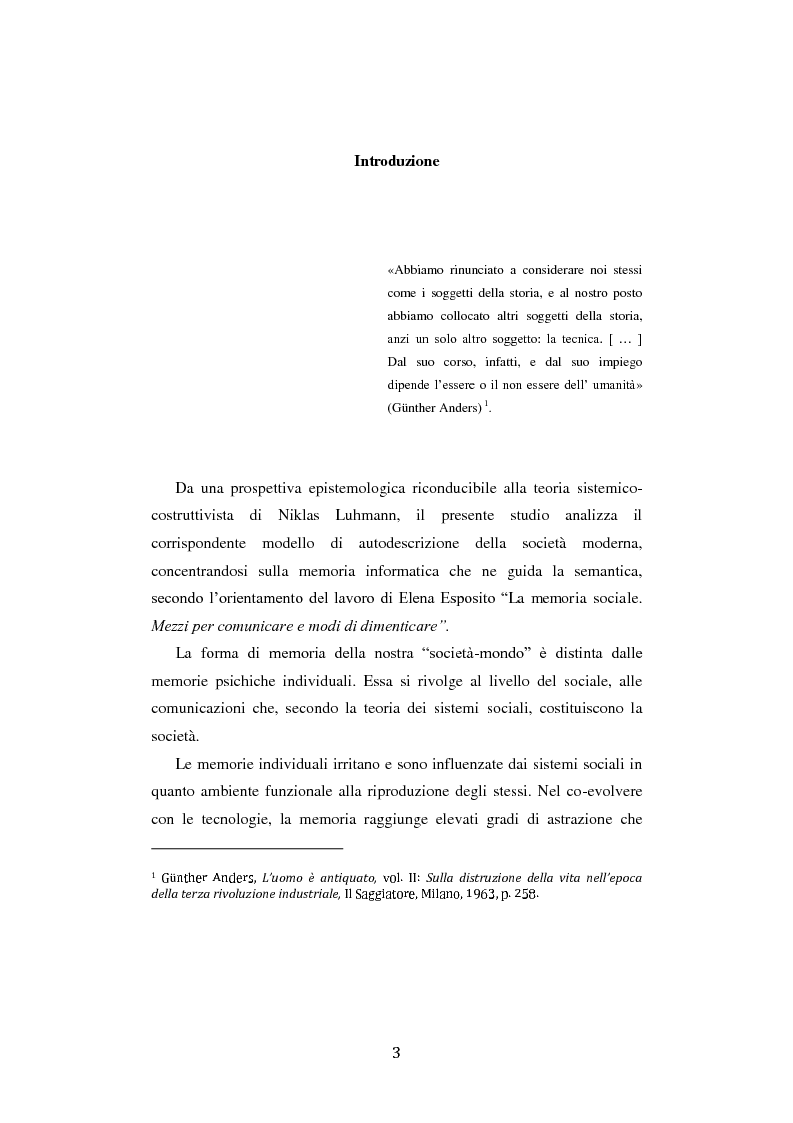 Anteprima della tesi: Fra ricordo e dimenticanza. Problemi e prospettive della corporeità nell'era della tecnica., Pagina 2