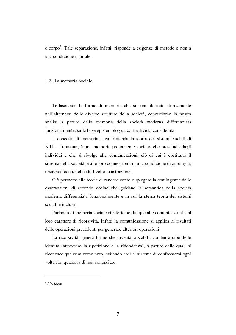 Anteprima della tesi: Fra ricordo e dimenticanza. Problemi e prospettive della corporeità nell'era della tecnica., Pagina 6