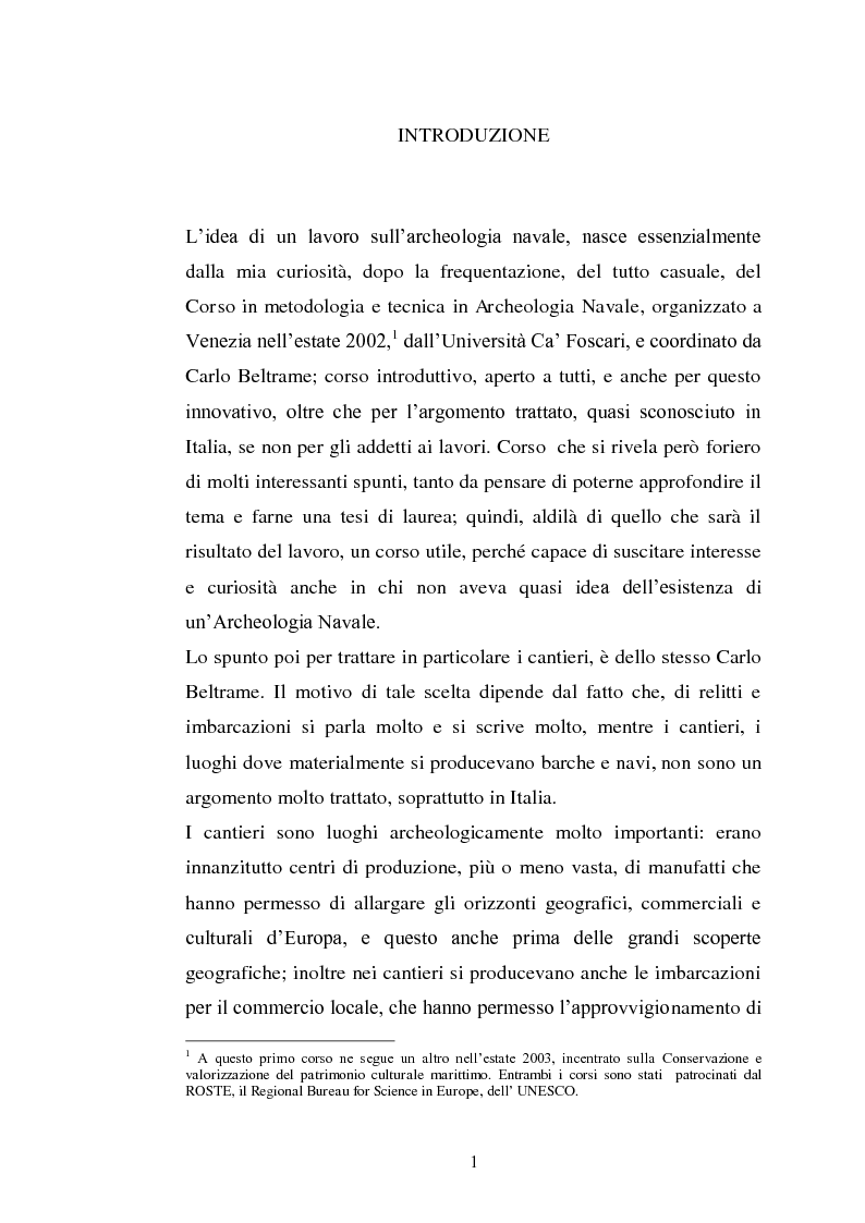 Anteprima della tesi: Il cantiere navale medievale nel Mediterraneo: un problema archeologico, Pagina 2