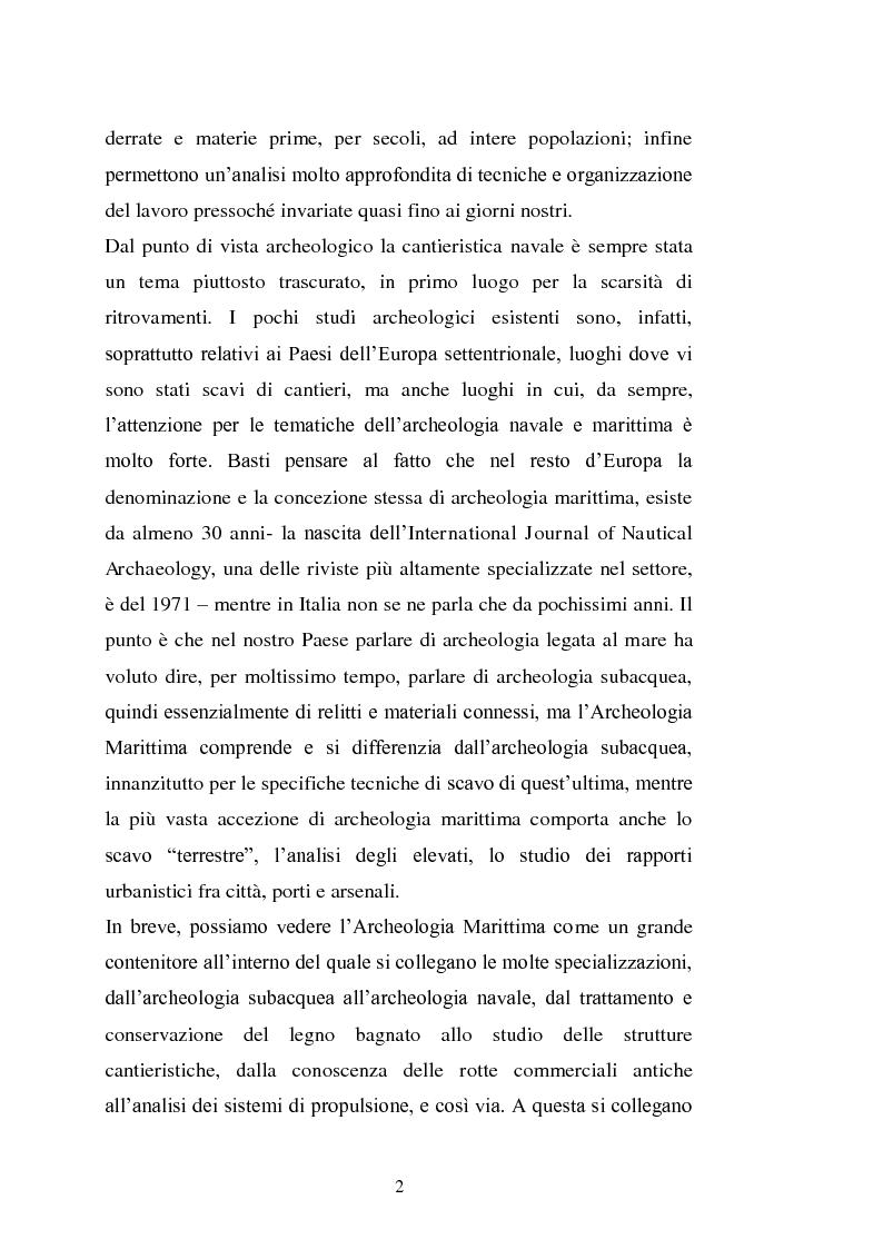 Anteprima della tesi: Il cantiere navale medievale nel Mediterraneo: un problema archeologico, Pagina 3