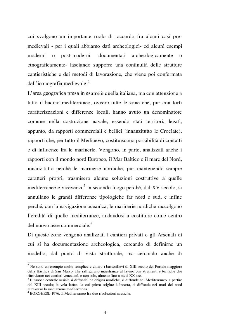 Anteprima della tesi: Il cantiere navale medievale nel Mediterraneo: un problema archeologico, Pagina 5