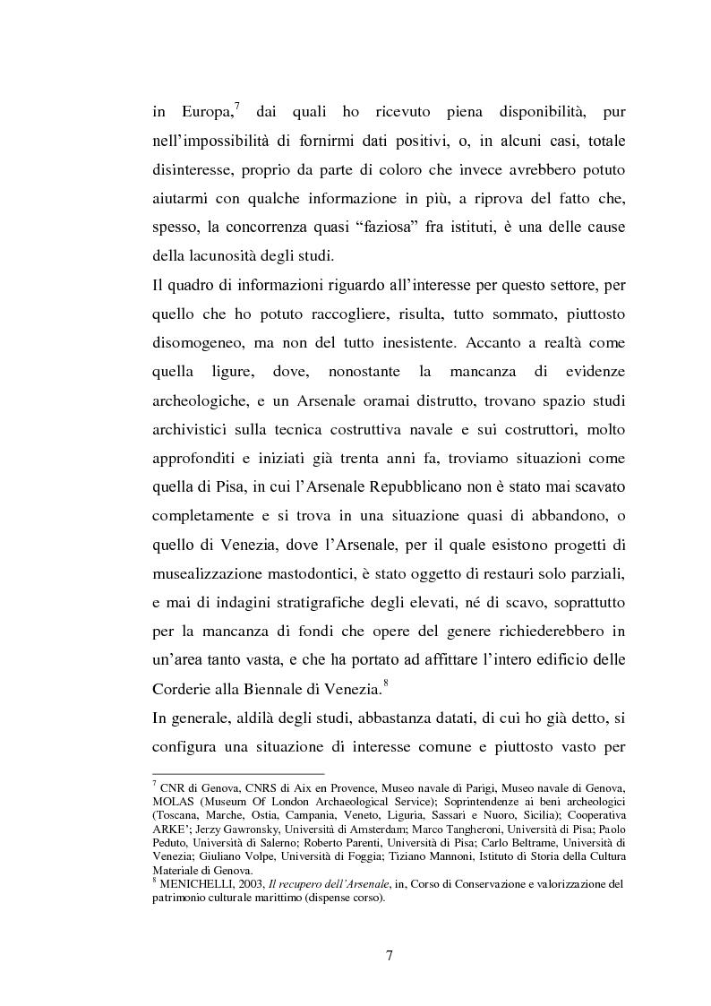 Anteprima della tesi: Il cantiere navale medievale nel Mediterraneo: un problema archeologico, Pagina 8