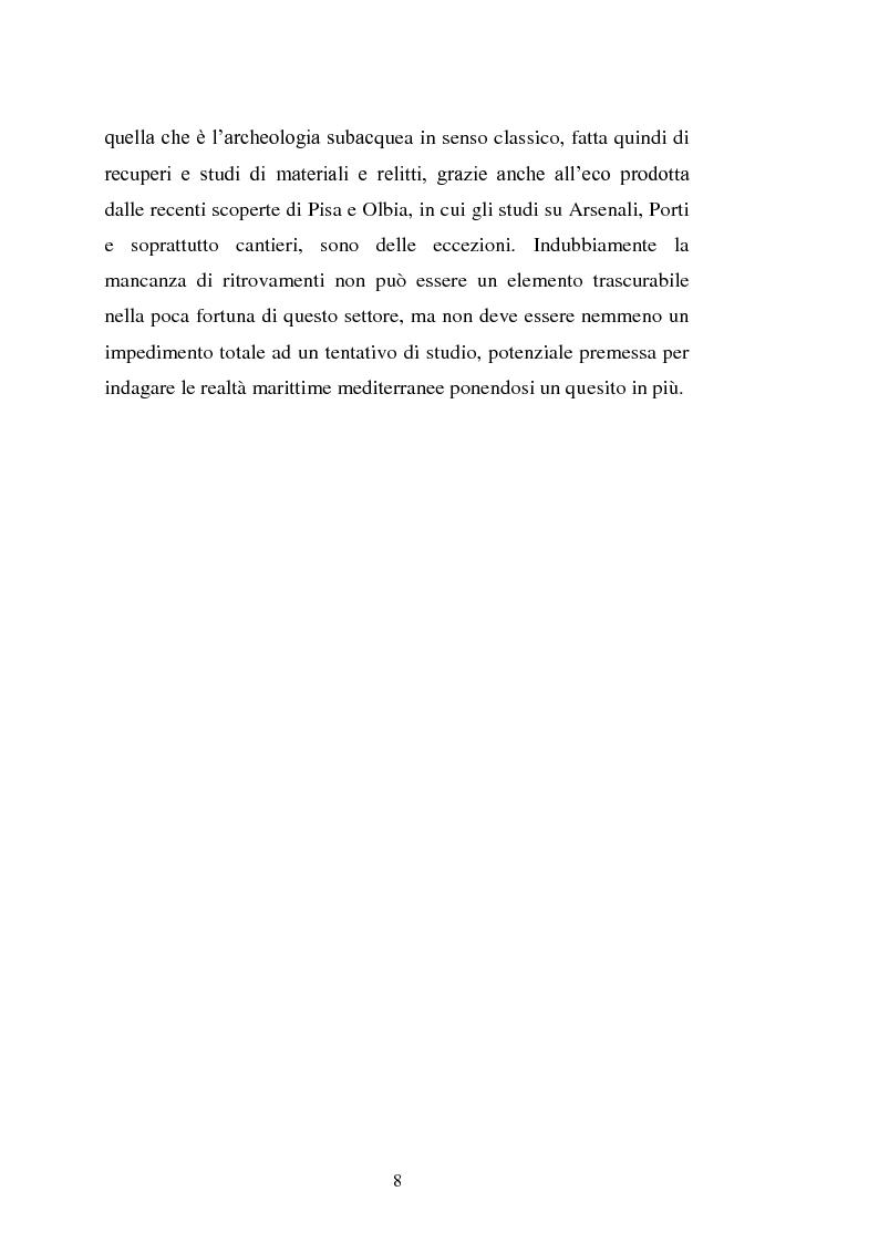 Anteprima della tesi: Il cantiere navale medievale nel Mediterraneo: un problema archeologico, Pagina 9