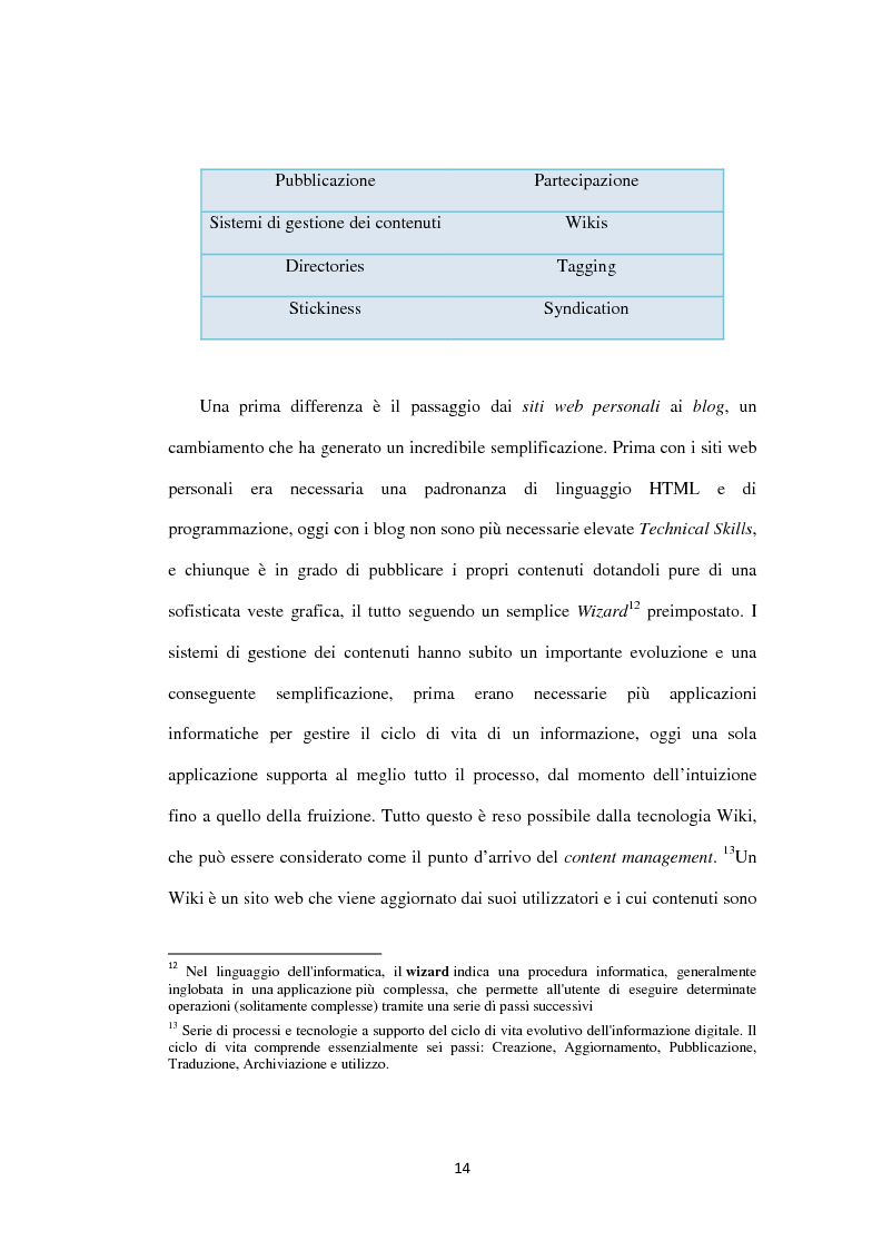 Anteprima della tesi: Approcci ''Open'' e ''User-led'': il ruolo delle tecnologie Web, Pagina 15