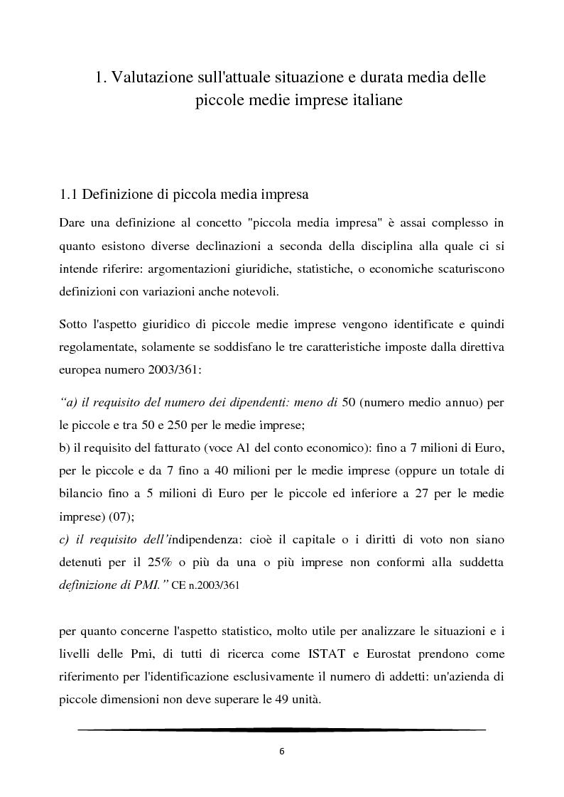 Managerializzazione ed innovazione strategica nelle PMI italiane - Tesi di Laurea