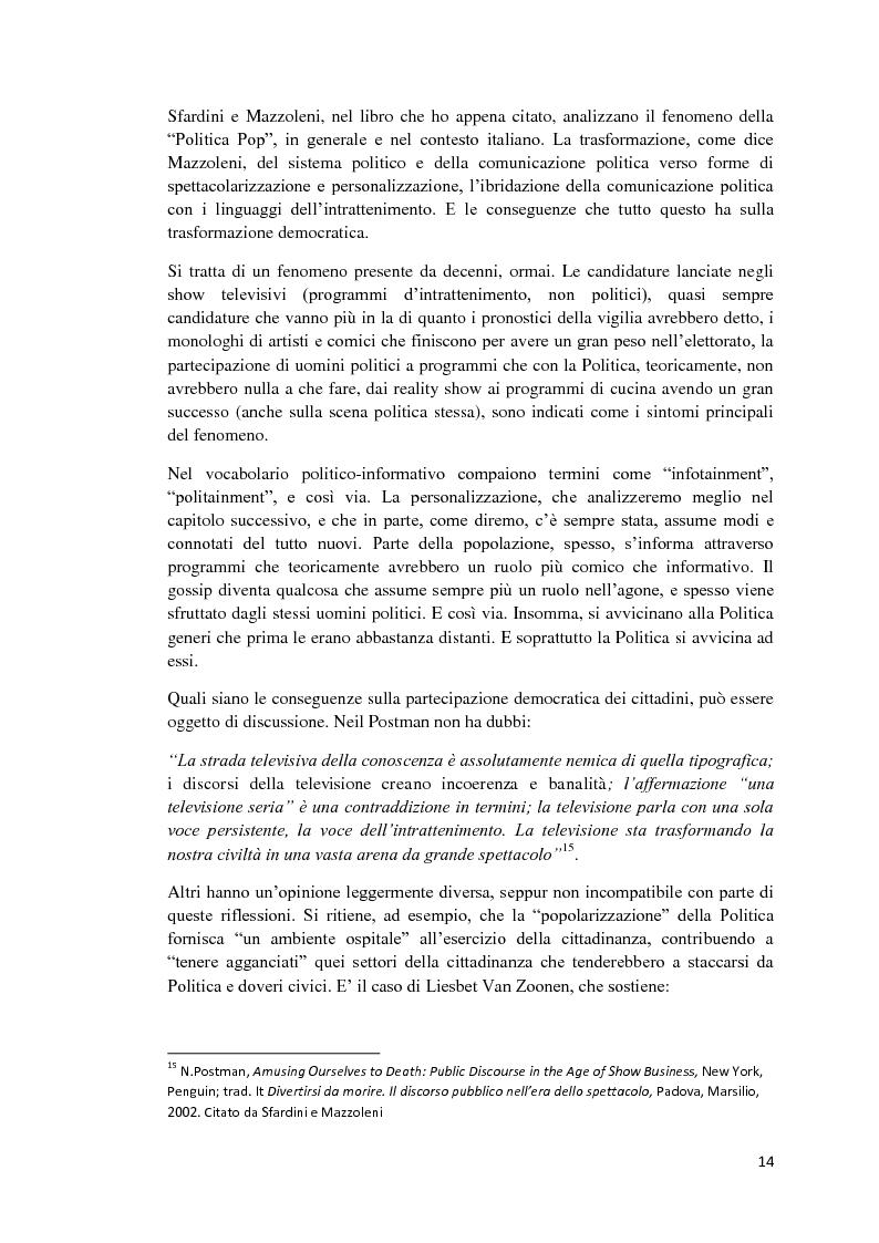 Anteprima della tesi: Politica e Comunicazione: Il caso del sig. B, Pagina 10