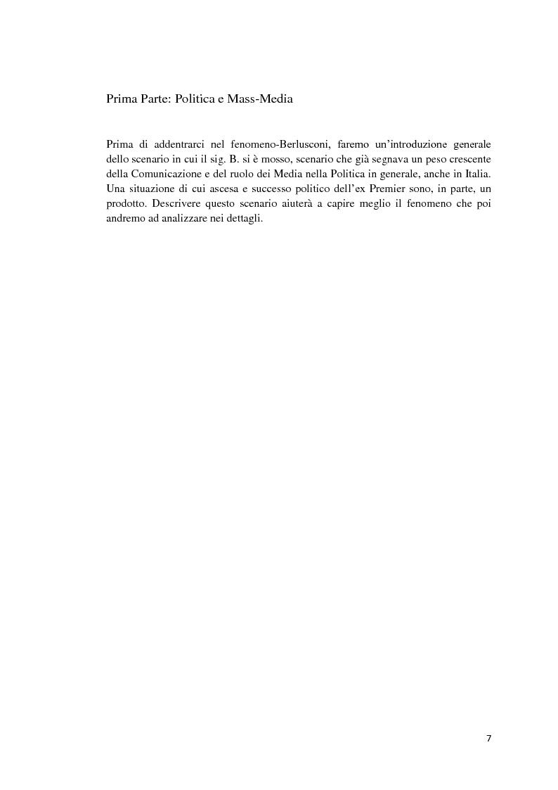 Anteprima della tesi: Politica e Comunicazione: Il caso del sig. B, Pagina 3