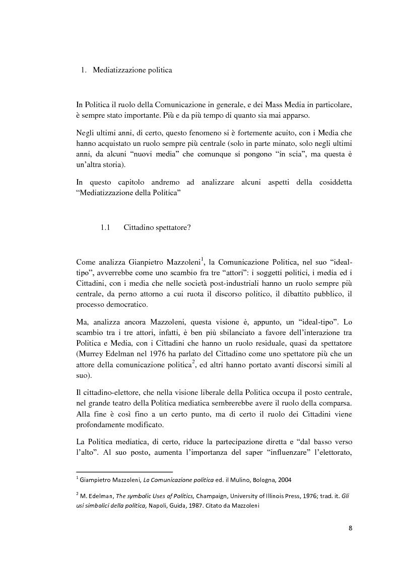 Anteprima della tesi: Politica e Comunicazione: Il caso del sig. B, Pagina 4