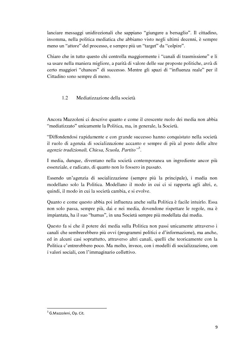 Anteprima della tesi: Politica e Comunicazione: Il caso del sig. B, Pagina 5