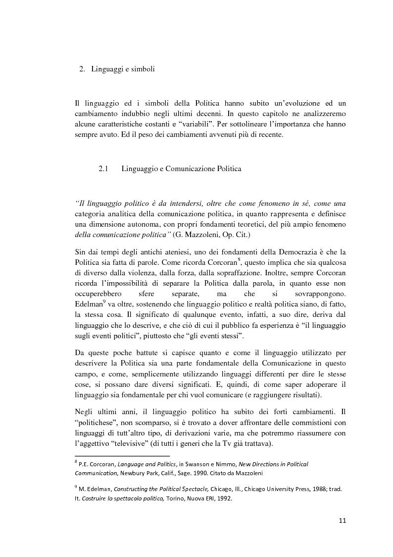 Anteprima della tesi: Politica e Comunicazione: Il caso del sig. B, Pagina 7