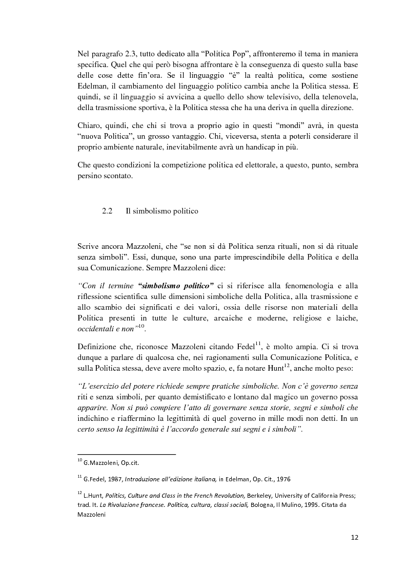 Anteprima della tesi: Politica e Comunicazione: Il caso del sig. B, Pagina 8