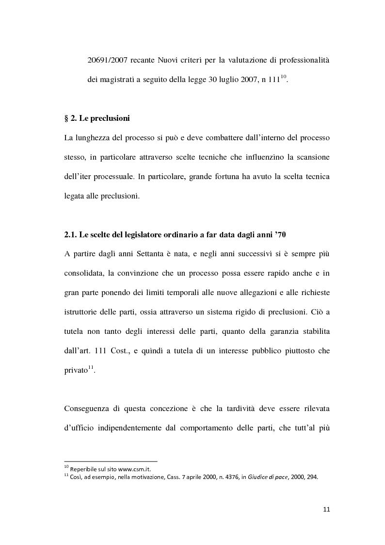Anteprima della tesi: La durata irragionevole del processo civile italiano, Pagina 12