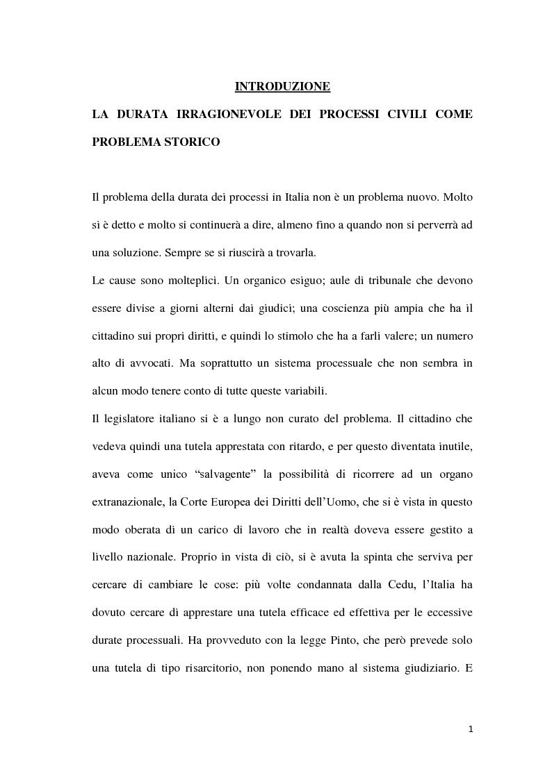 Anteprima della tesi: La durata irragionevole del processo civile italiano, Pagina 2