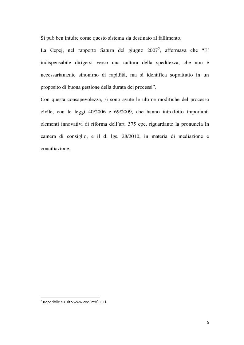 Anteprima della tesi: La durata irragionevole del processo civile italiano, Pagina 6