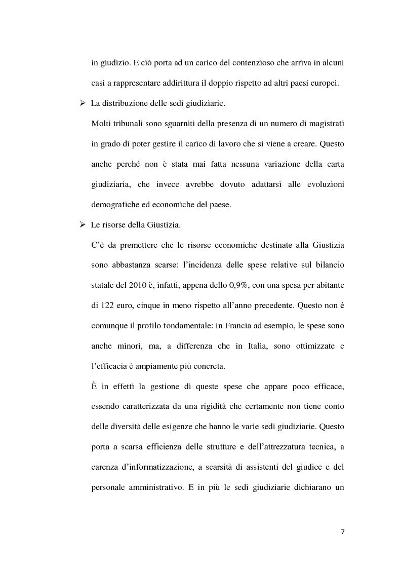 Anteprima della tesi: La durata irragionevole del processo civile italiano, Pagina 8
