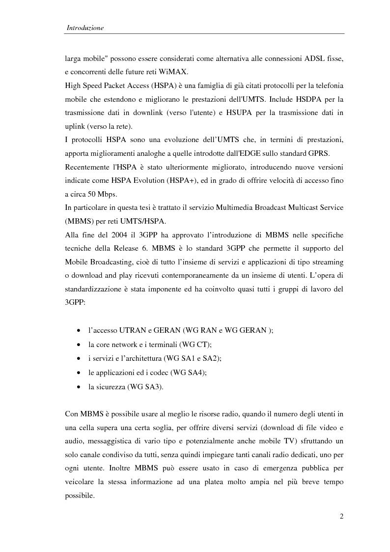 Anteprima della tesi: Proposta di una tecnica adattiva di gestione delle risorse per reti cellulari UMTS/HSPA, Pagina 3