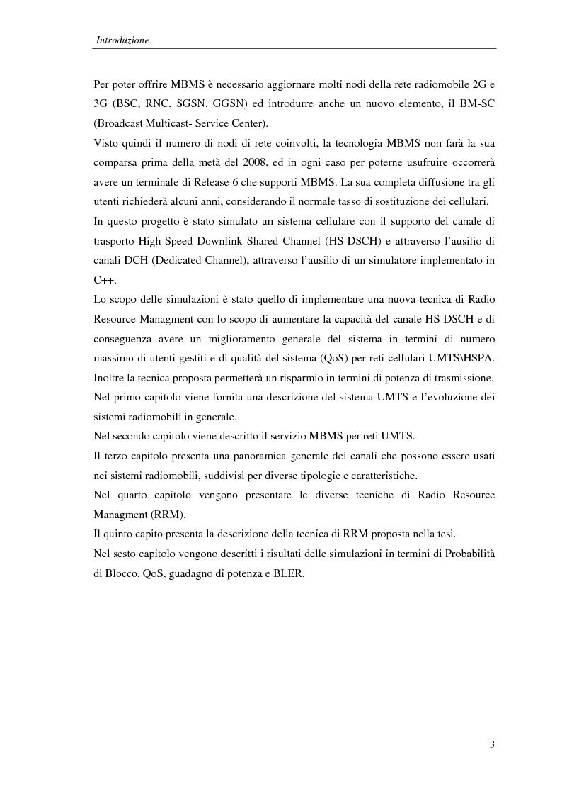 Anteprima della tesi: Proposta di una tecnica adattiva di gestione delle risorse per reti cellulari UMTS/HSPA, Pagina 4