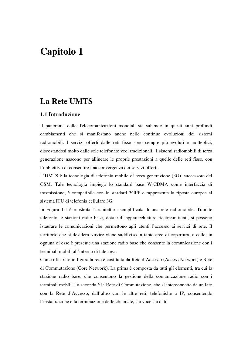 Anteprima della tesi: Proposta di una tecnica adattiva di gestione delle risorse per reti cellulari UMTS/HSPA, Pagina 5