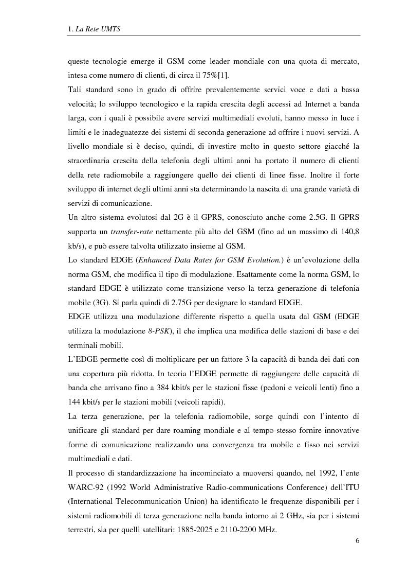 Anteprima della tesi: Proposta di una tecnica adattiva di gestione delle risorse per reti cellulari UMTS/HSPA, Pagina 7