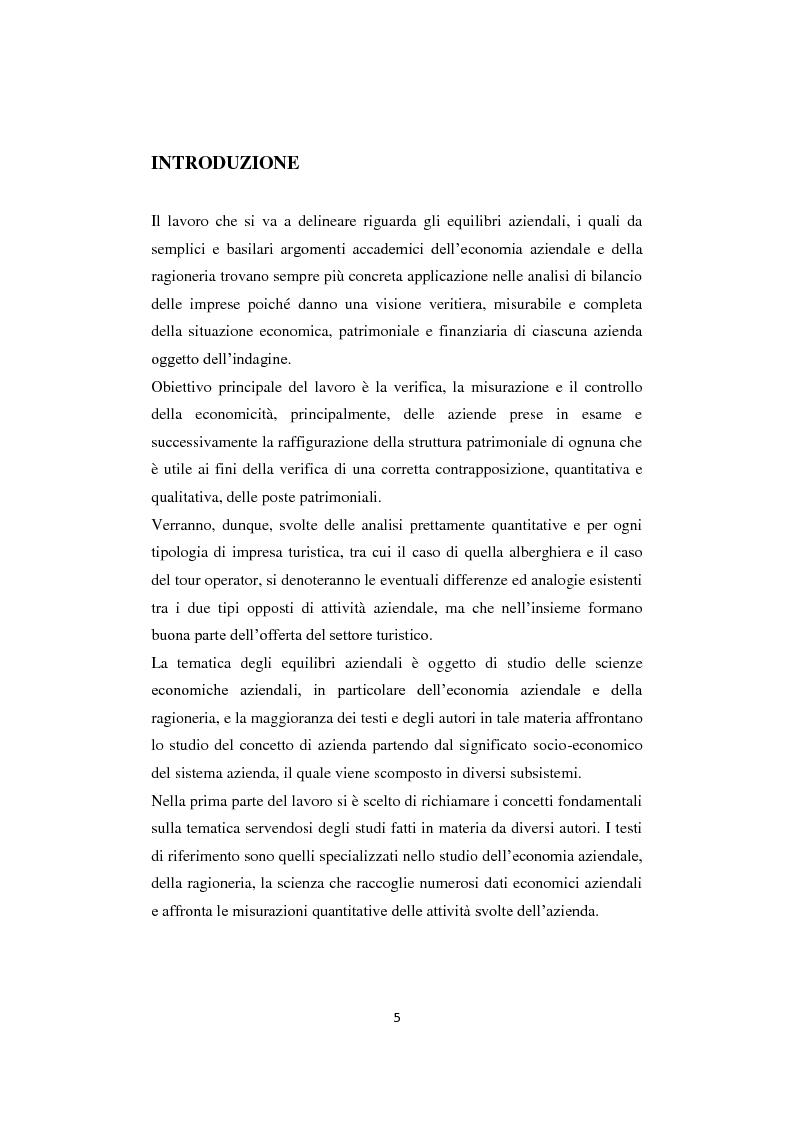 Anteprima della tesi: Gli equilibri nelle aziende turistiche: il caso delle imprese ricettive-alberghiere e dei tour operators, Pagina 2