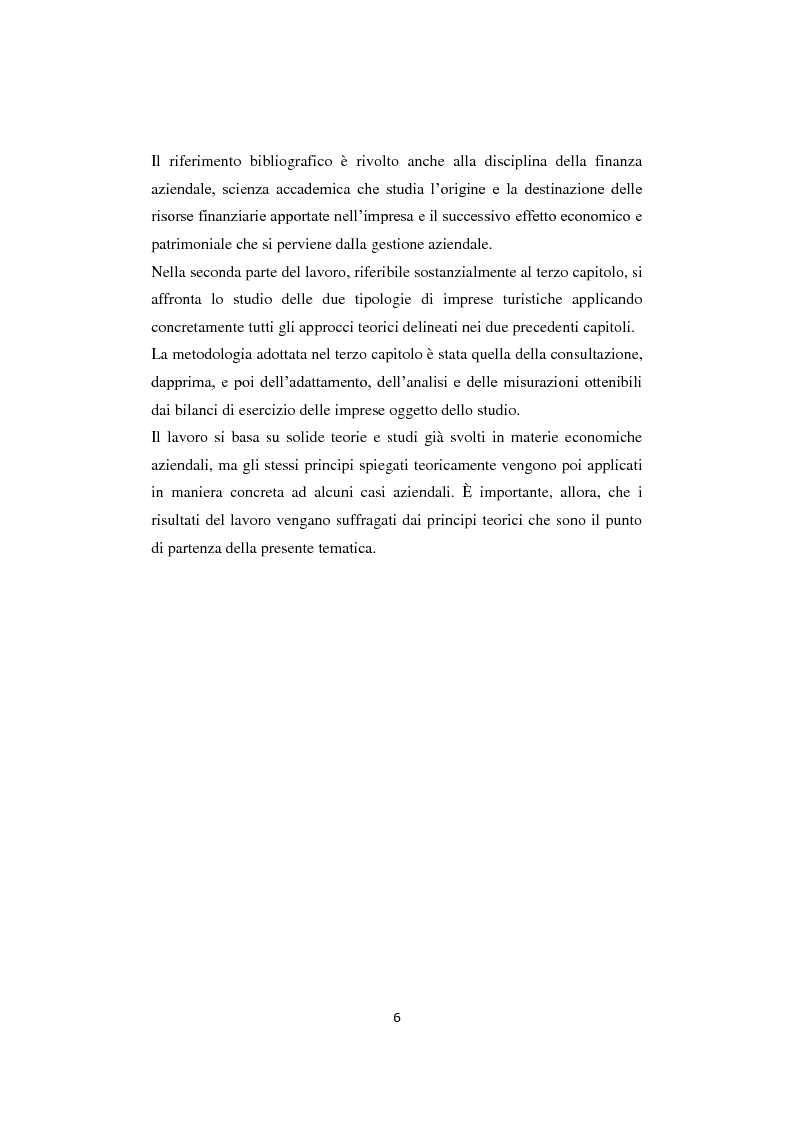 Anteprima della tesi: Gli equilibri nelle aziende turistiche: il caso delle imprese ricettive-alberghiere e dei tour operators, Pagina 3