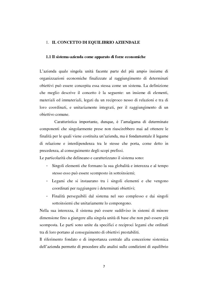 Anteprima della tesi: Gli equilibri nelle aziende turistiche: il caso delle imprese ricettive-alberghiere e dei tour operators, Pagina 4