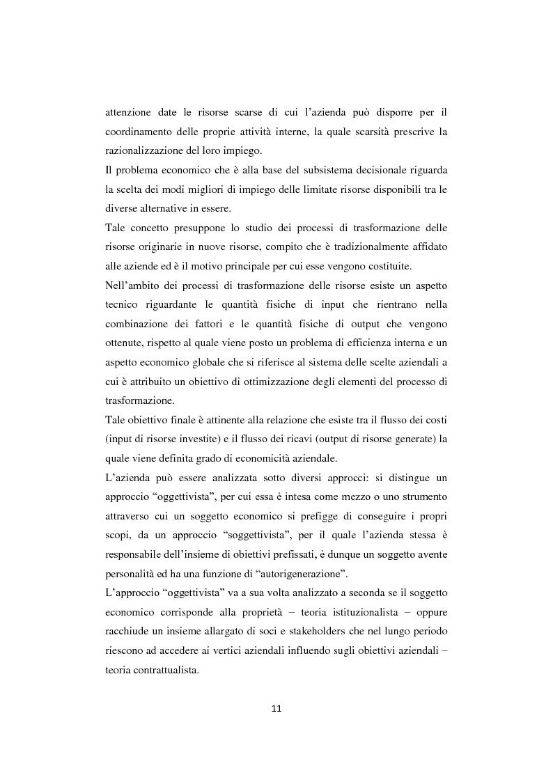Anteprima della tesi: Gli equilibri nelle aziende turistiche: il caso delle imprese ricettive-alberghiere e dei tour operators, Pagina 8