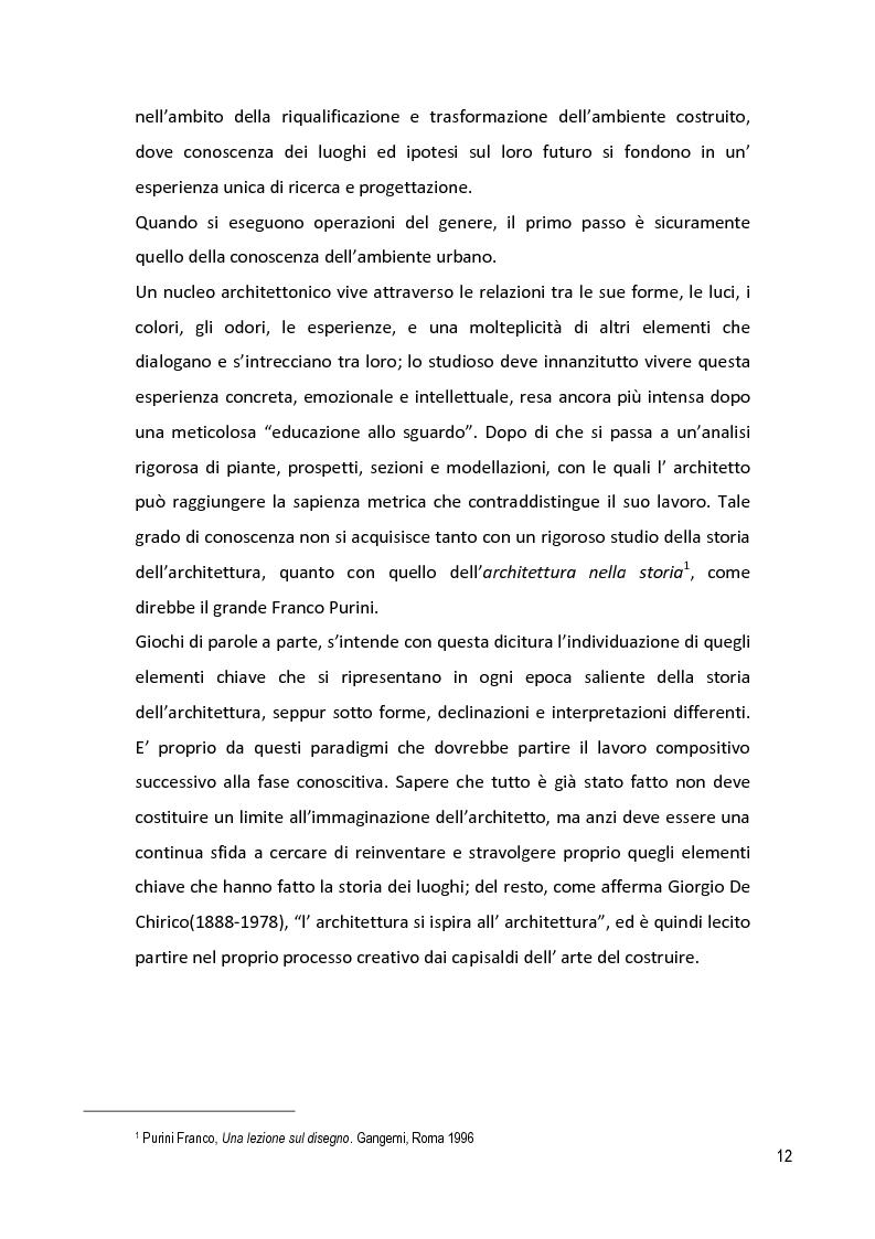 Anteprima della tesi: Il Disegno Intelligente: conoscere, interpretare, trasformare - Percorsi e visioni nel centro storico di Maglie (LE), Pagina 7