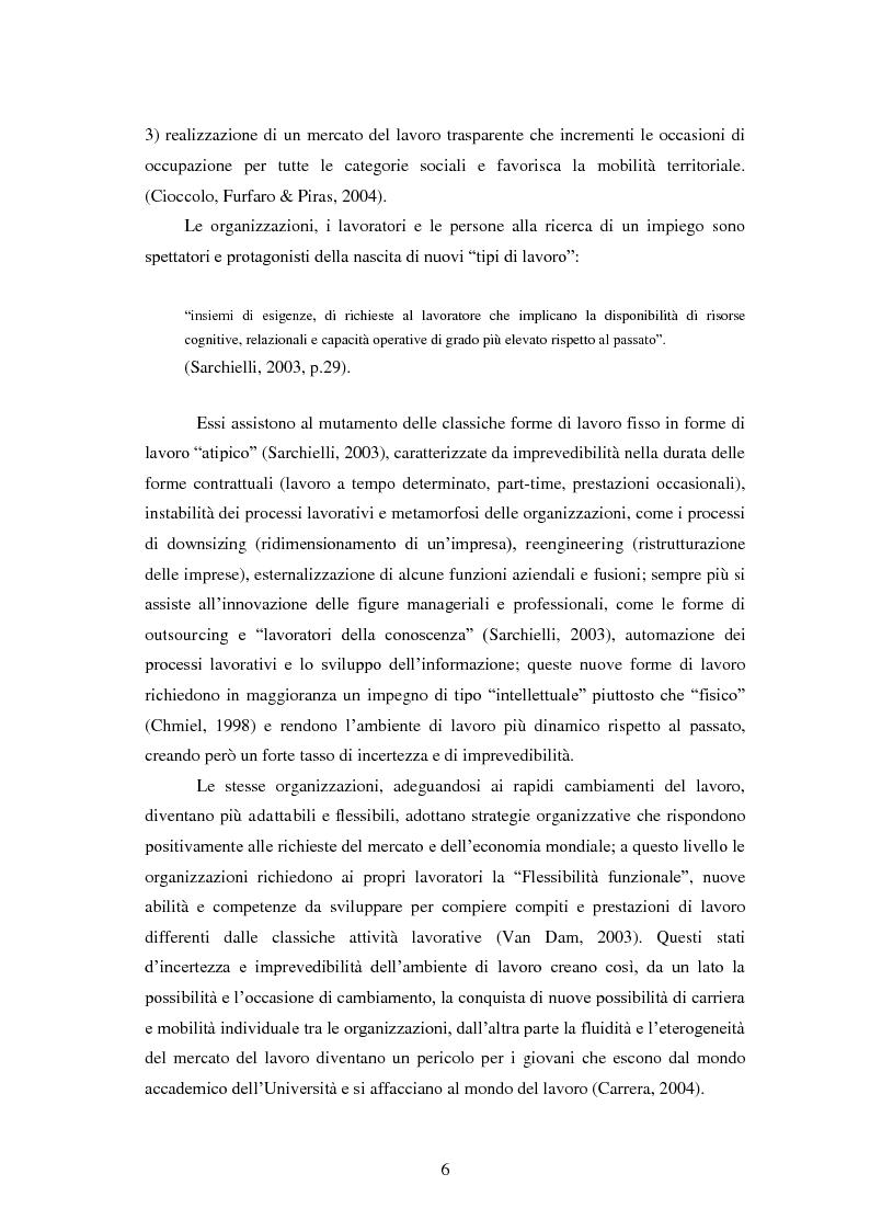 Anteprima della tesi: Employability: una risorsa individuale per l'occupazione. Uno studio esplorativo sulla relazione tra Employability e Caratteristiche del Sé., Pagina 5
