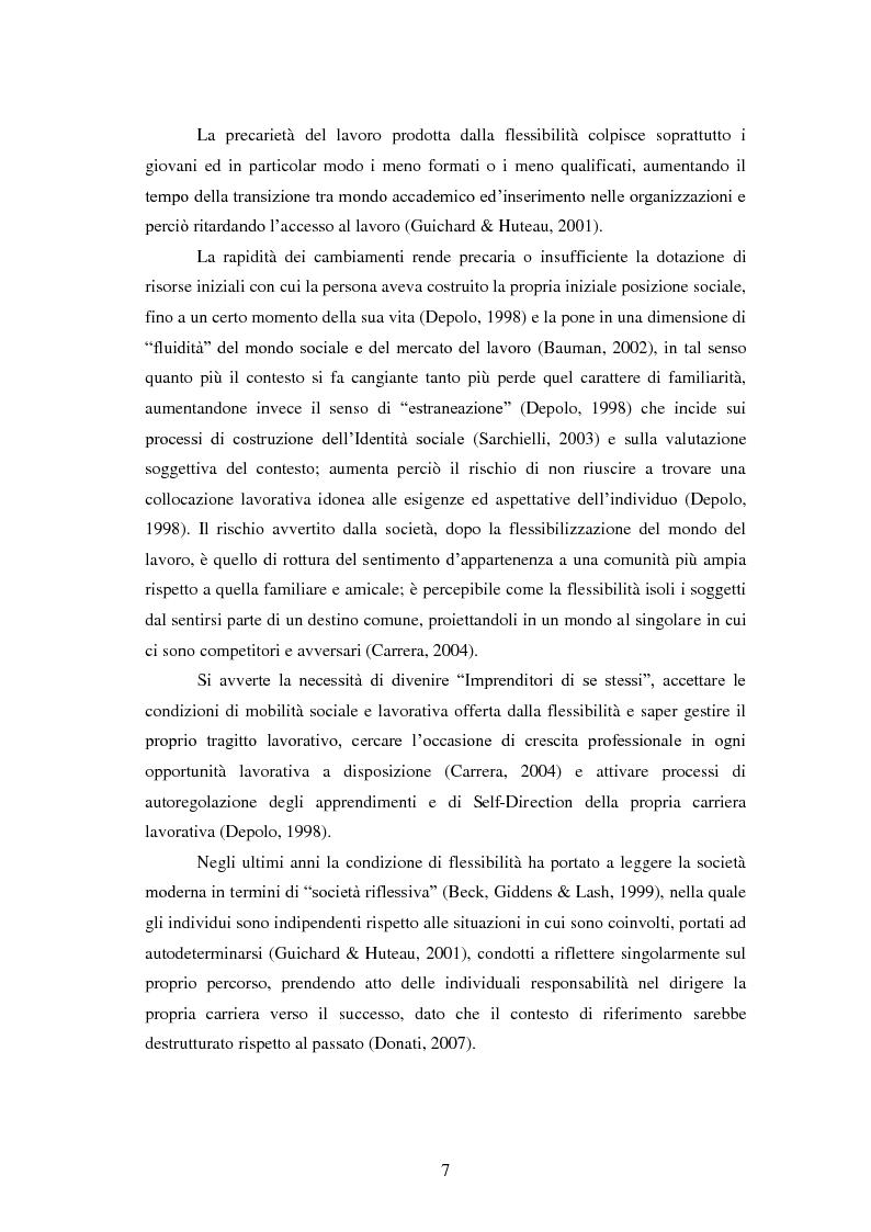 Anteprima della tesi: Employability: una risorsa individuale per l'occupazione. Uno studio esplorativo sulla relazione tra Employability e Caratteristiche del Sé., Pagina 6