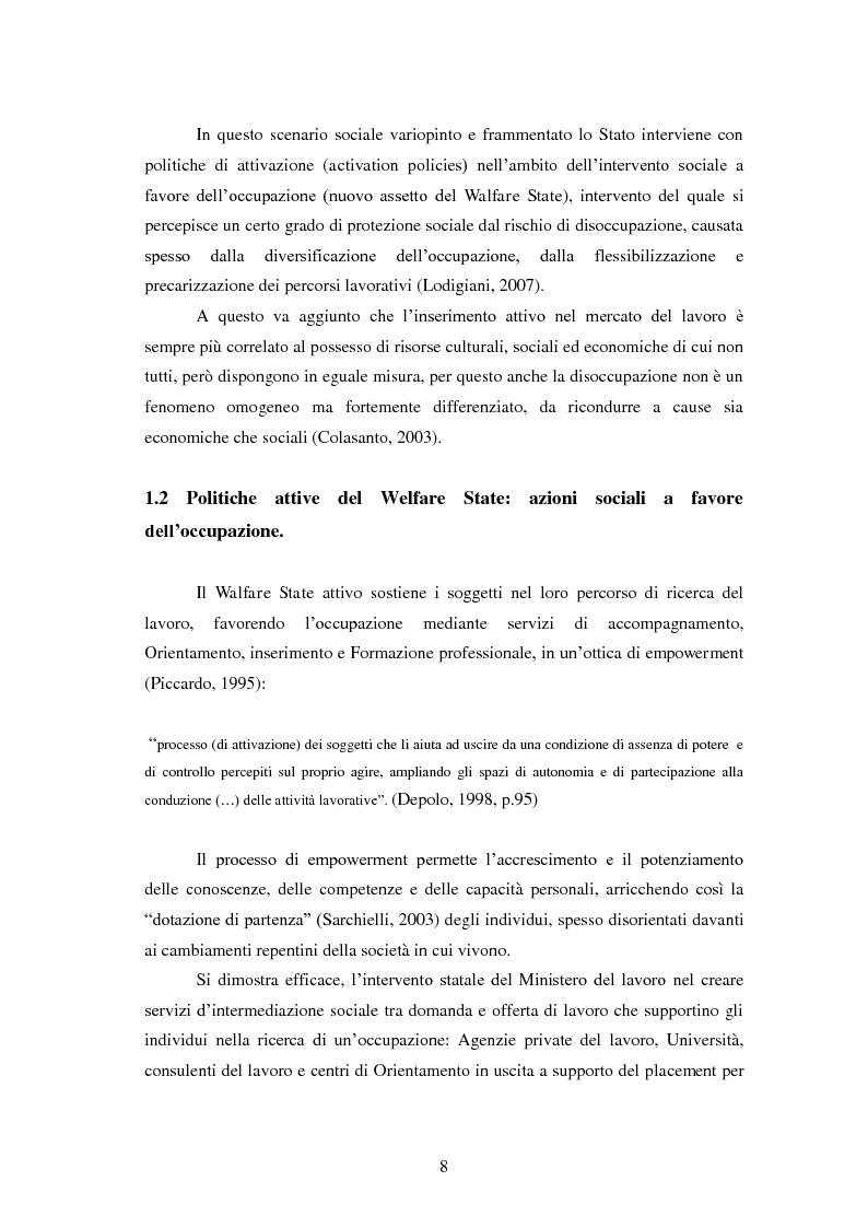 Anteprima della tesi: Employability: una risorsa individuale per l'occupazione. Uno studio esplorativo sulla relazione tra Employability e Caratteristiche del Sé., Pagina 7