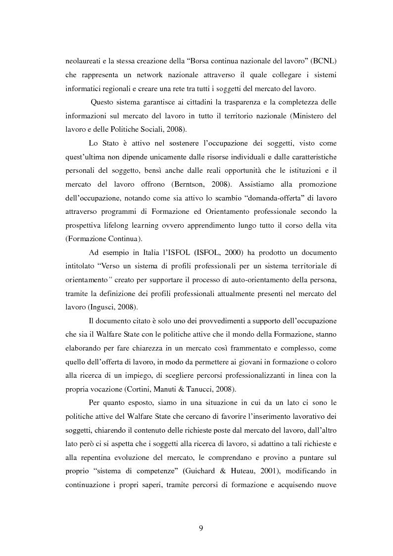 Anteprima della tesi: Employability: una risorsa individuale per l'occupazione. Uno studio esplorativo sulla relazione tra Employability e Caratteristiche del Sé., Pagina 8