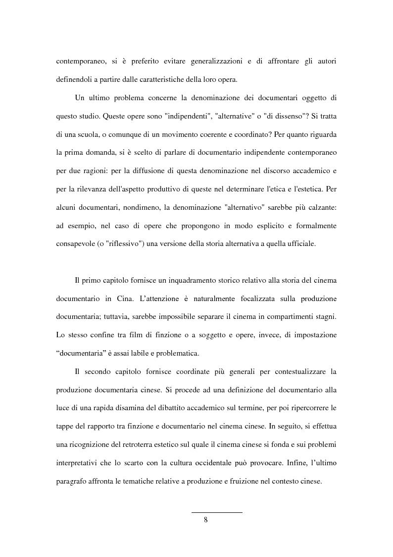 Anteprima della tesi: Documentario cinese indipendente contemporaneo, Pagina 6