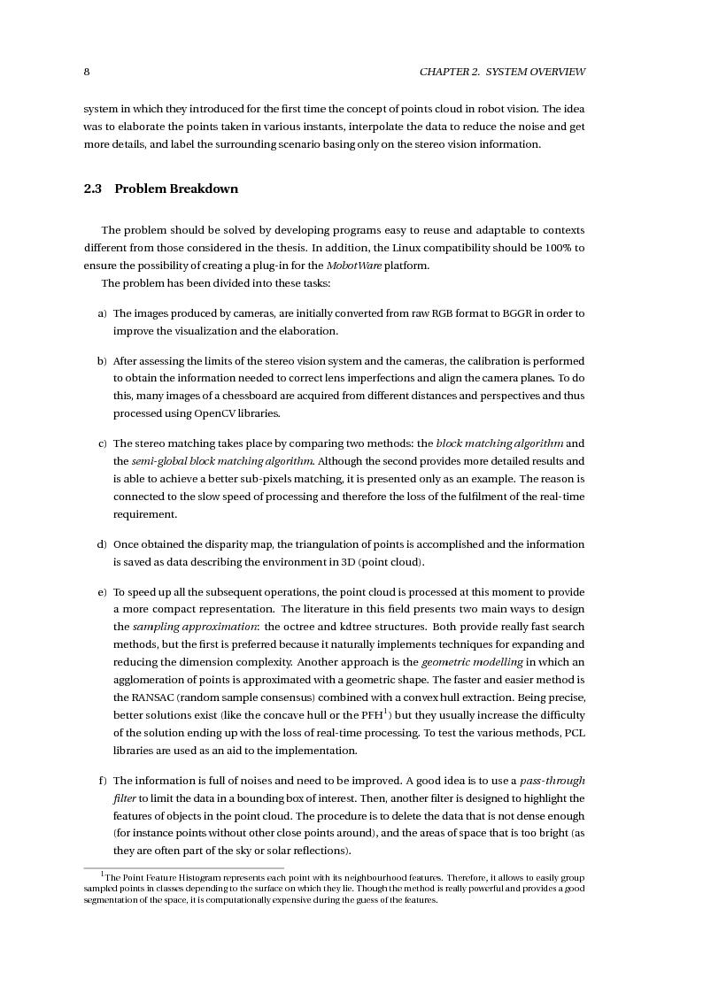 Anteprima della tesi: Stereo Vision Based Object Detection for Mobile Robots (Stereo Visione per il Riconoscimento di Oggetti nella Robotica Mobile), Pagina 10