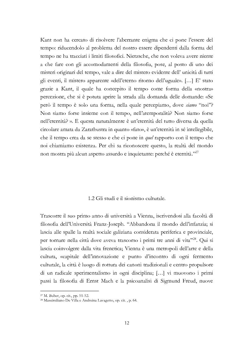 Anteprima della tesi: Ebraismo e filosofia del dialogo in Martin Buber, Pagina 10