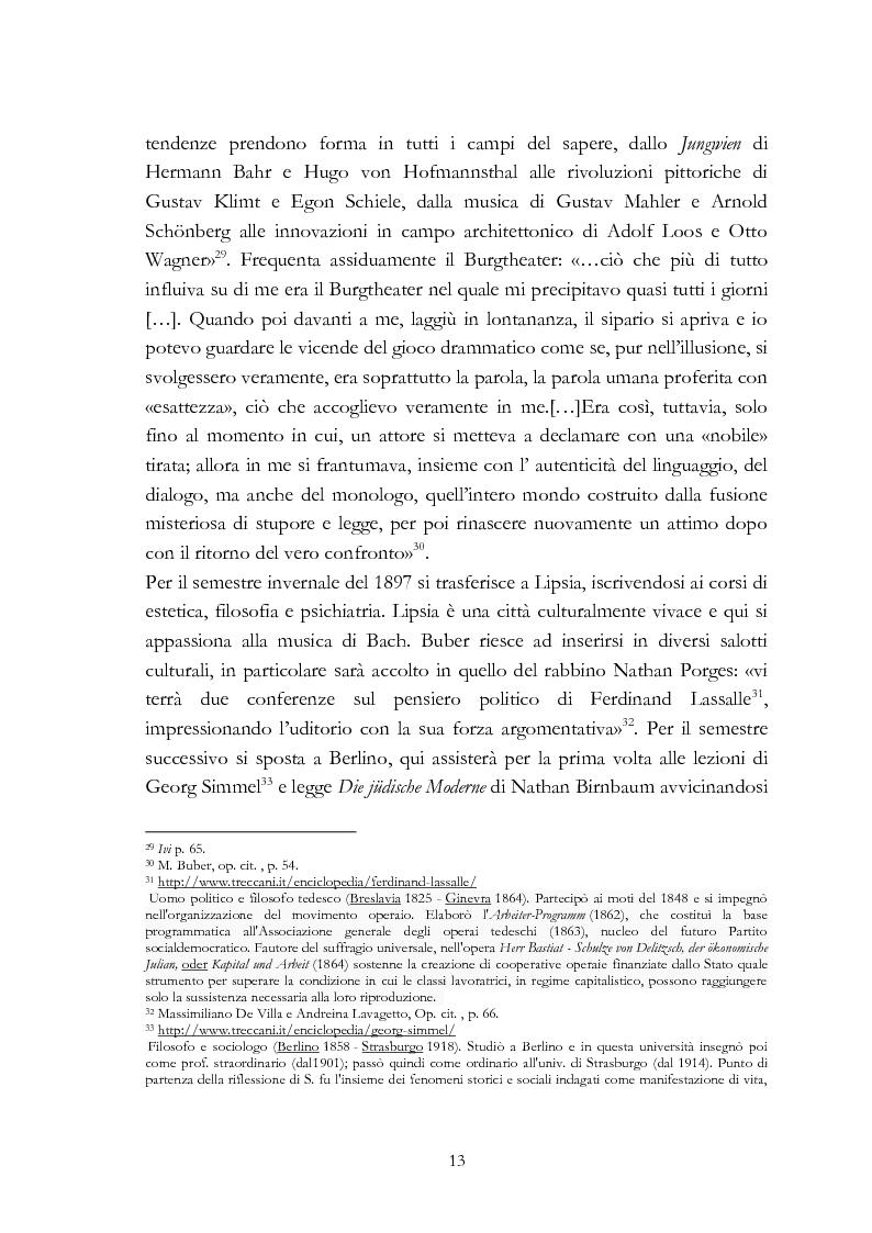 Anteprima della tesi: Ebraismo e filosofia del dialogo in Martin Buber, Pagina 11