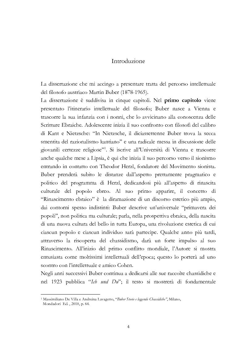 Anteprima della tesi: Ebraismo e filosofia del dialogo in Martin Buber, Pagina 2