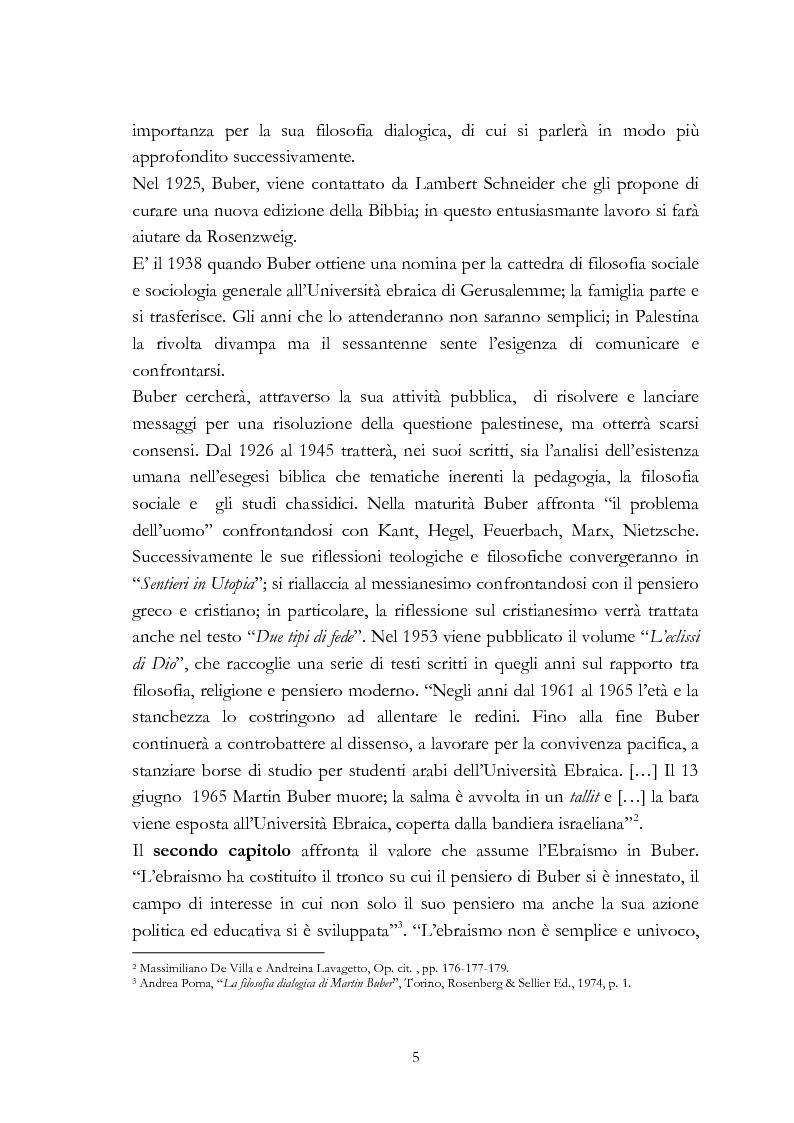 Anteprima della tesi: Ebraismo e filosofia del dialogo in Martin Buber, Pagina 3