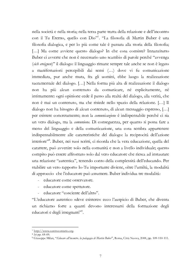 Anteprima della tesi: Ebraismo e filosofia del dialogo in Martin Buber, Pagina 5