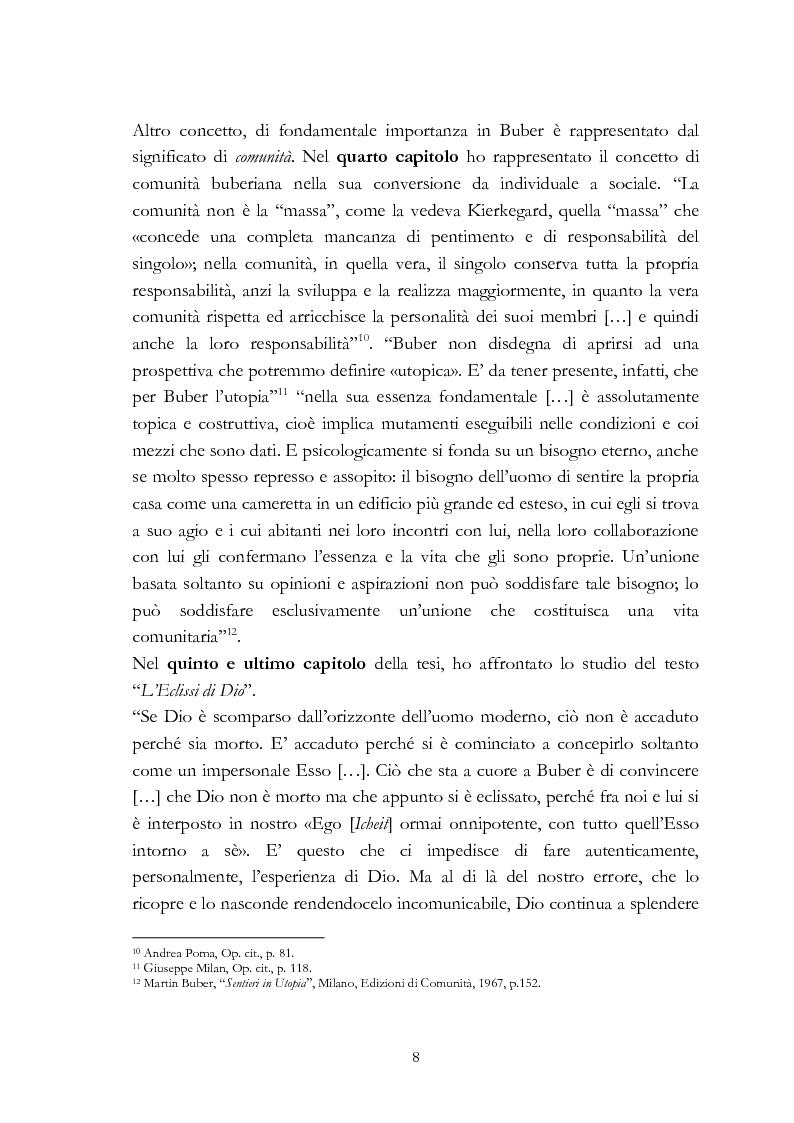 Anteprima della tesi: Ebraismo e filosofia del dialogo in Martin Buber, Pagina 6