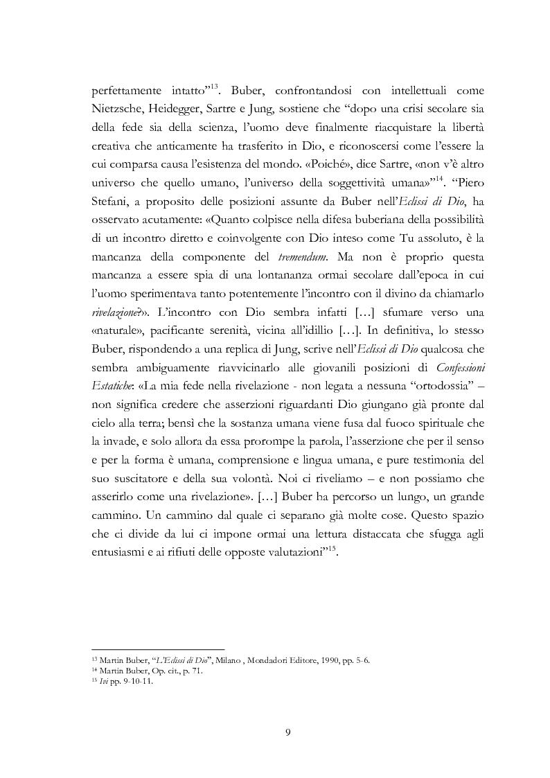 Anteprima della tesi: Ebraismo e filosofia del dialogo in Martin Buber, Pagina 7