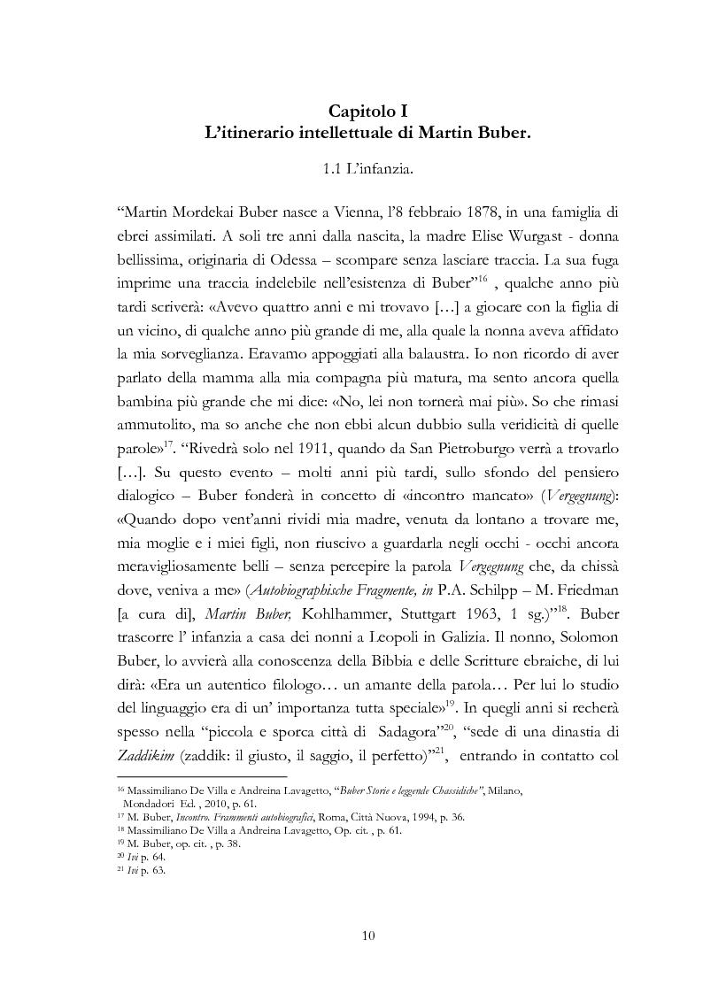 Anteprima della tesi: Ebraismo e filosofia del dialogo in Martin Buber, Pagina 8