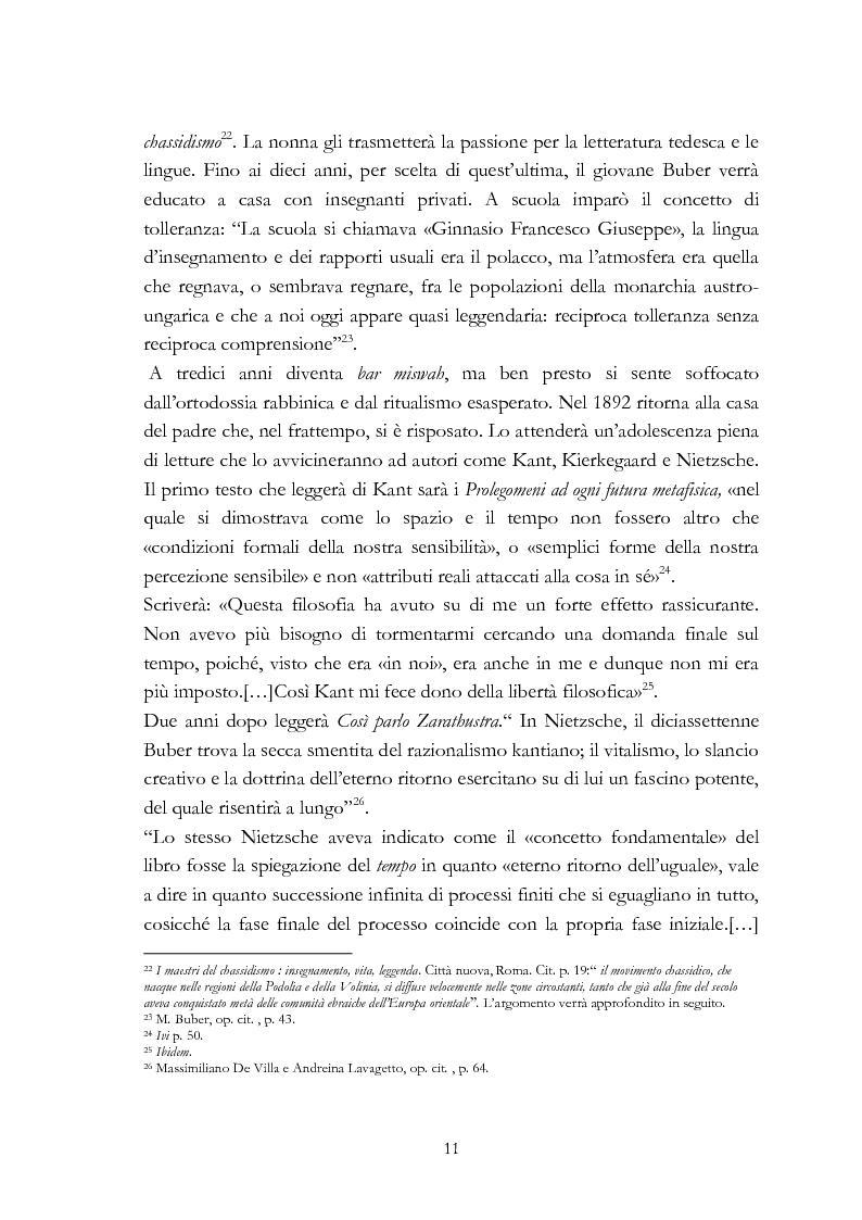 Anteprima della tesi: Ebraismo e filosofia del dialogo in Martin Buber, Pagina 9