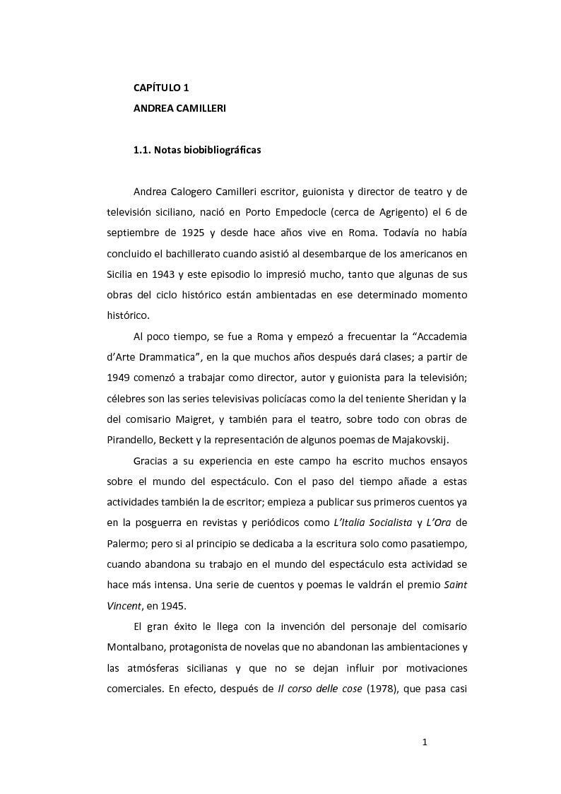 Anteprima della tesi: ''La pazienza del ragno'' de Andrea Camilleri: de la novela a la película, con un estudio de la traducción al español, Pagina 2