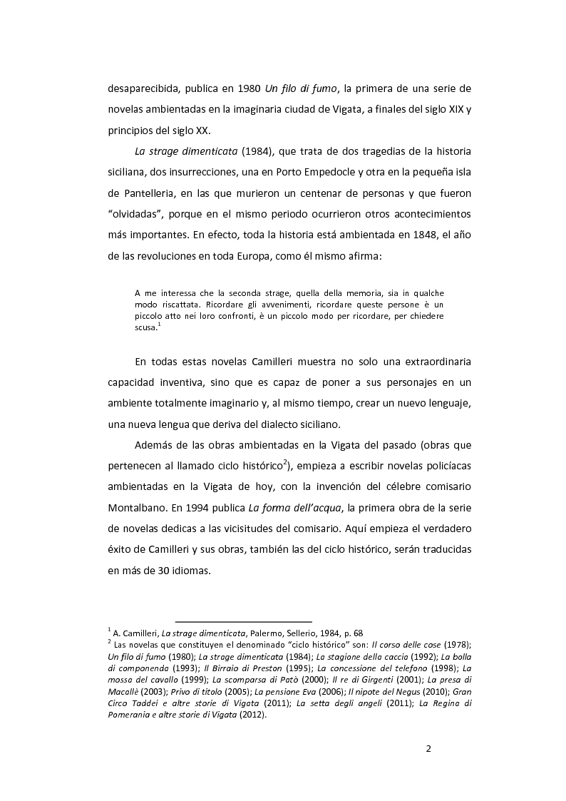 Anteprima della tesi: ''La pazienza del ragno'' de Andrea Camilleri: de la novela a la película, con un estudio de la traducción al español, Pagina 3