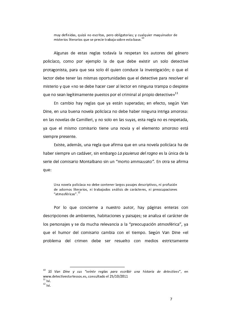 Anteprima della tesi: ''La pazienza del ragno'' de Andrea Camilleri: de la novela a la película, con un estudio de la traducción al español, Pagina 8