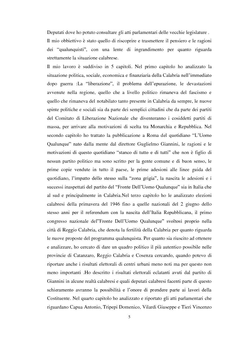 "Anteprima della tesi: L' ""uomo qualunque"" in Calabria, Pagina 3"