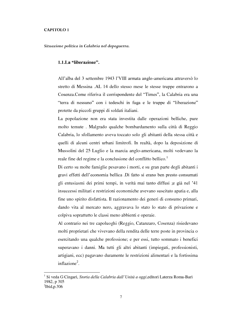 "Anteprima della tesi: L' ""uomo qualunque"" in Calabria, Pagina 5"
