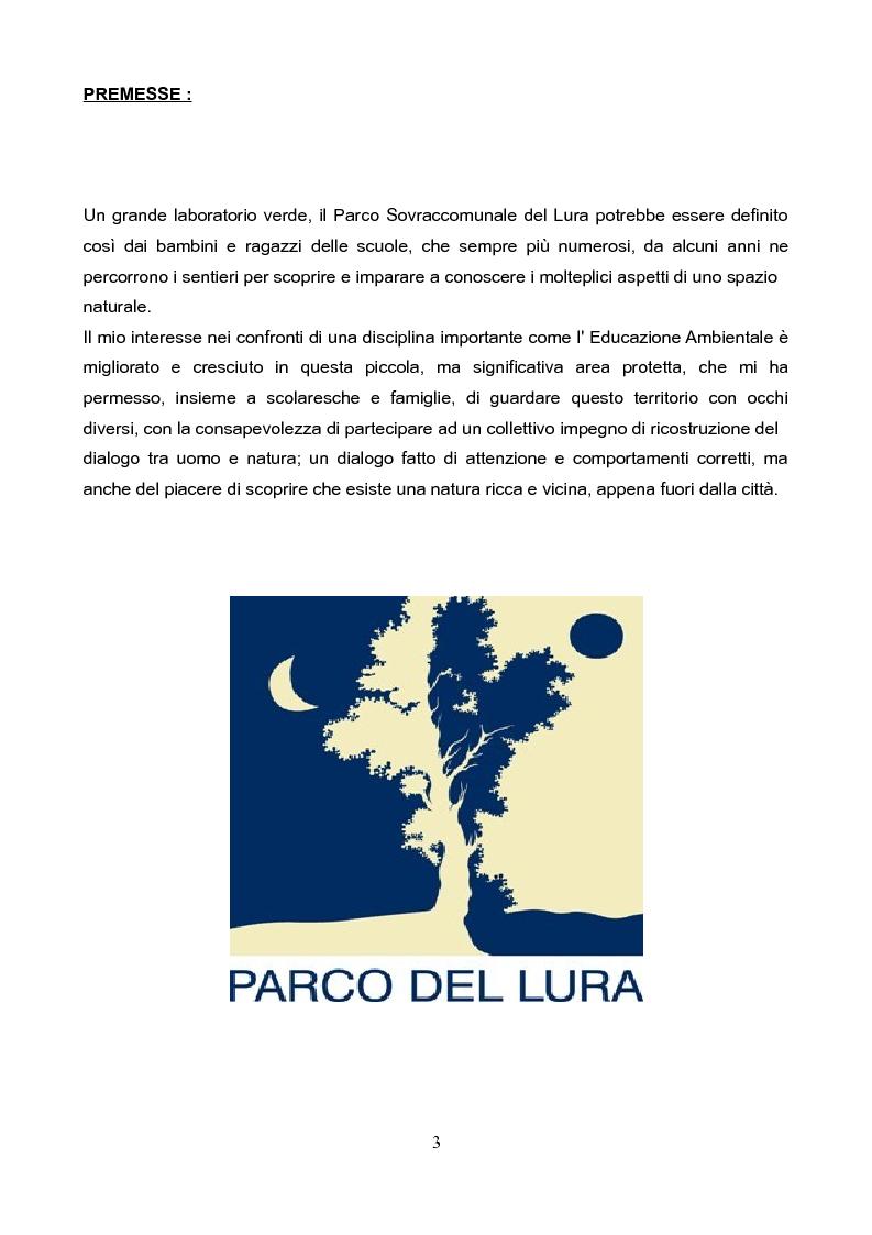 Anteprima della tesi: Il Parco del Lura: luci ed ombre, i suoi problemi, la conservazione e la riqualificazione., Pagina 2